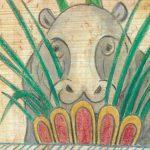 איור מאת להי פין לספר 'היפופוטם החרסינה הכחולה'