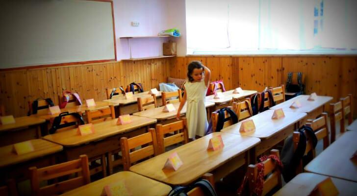 כיתה א' בבית ספר אדם, ירושלים. צילמה צביה פרידמן.