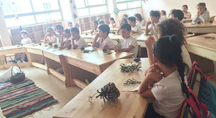 כיתת קרן אור (כיתה ב) - בית חינוך לאה גולדברג, גבעתיים. צילום יעלה להב רז
