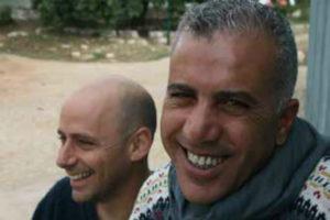 פאיז סוואד (מימין) ורועי בירן ברגע של נחת. צילום: מור סאן