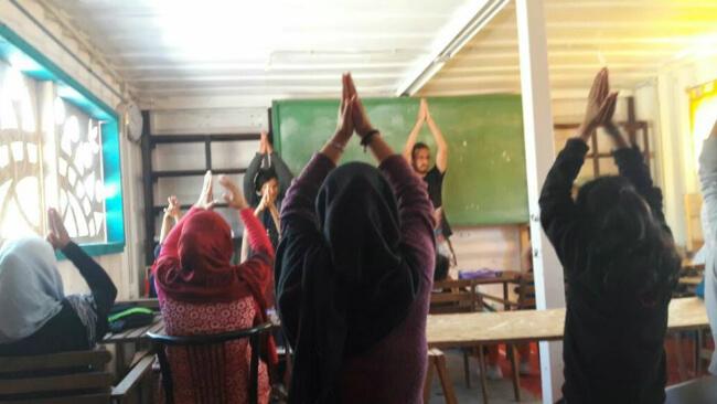 בית ספר לילדי פליטים באי היווני לסבוס