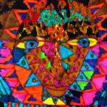 מקטע מתוך ציור של עילי, דייר בכפר שמעון. צבע וטושים על נייר