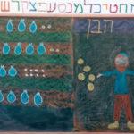 ציור לוח בית ספר זמרת-יה, בית ספר אנתרופוסופי דתי ברמת גן. צילום באדיבות רן אהרוני