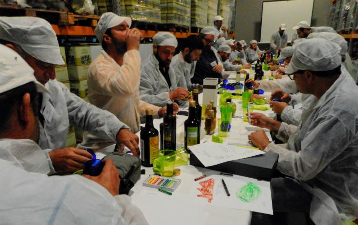 טעימת שמן זית וחקר איכות הטעם בעזרת צבעים ביוון