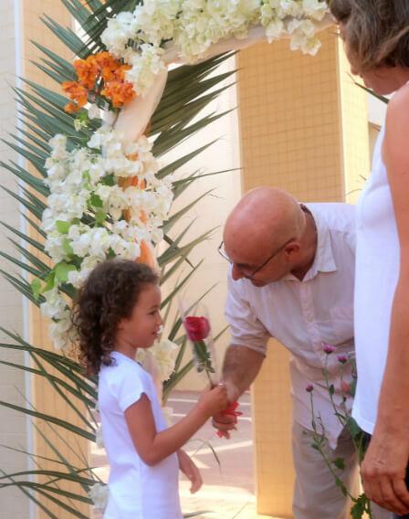 דוד לוי , מחנך כיתה א' במסלול האנתרופוסופי בבית ספר בגין, בשער הפרחים
