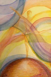 """""""אדם-אדמה"""", ציור מאת לנא נסראללה"""