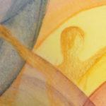 """חלק מציור """"אדם-אדמה"""" מאת לנה נסראללה"""