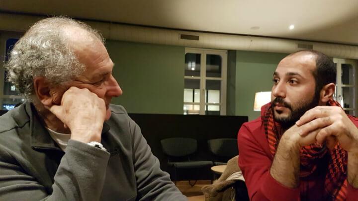 אחמד אל-אזבאט ואודי לוי, שוויץ. צילום: אורנה לוי