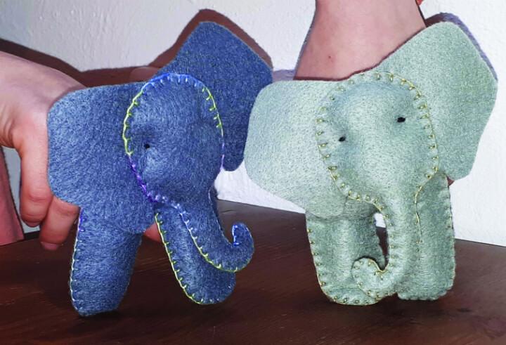 בובת אצבע בצורת פיל