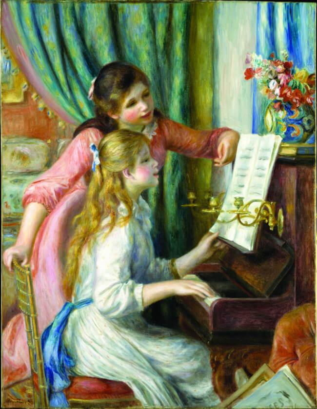 ילדות ליד פסנתר פייר אוגוסט רנואר 1892