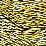 בריכות, 1998 דיו צבעי מים וקילוף על נייר ארש, 120x160 ס״מ. מאיה כהן לוי. צילום: אבי חי.